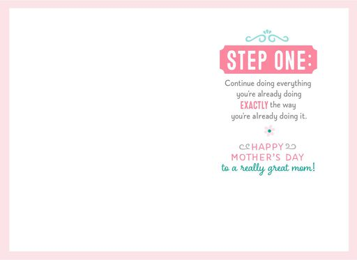 Steps for Being Great Mother's Day Card,