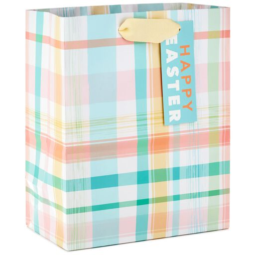 Pastel Plaid Medium Gift Bag With Gift Tag 87c555290bf33