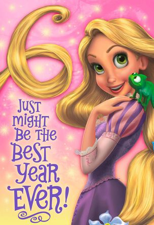 Tangled Rapunzel 6th Birthday With Sticker Activity