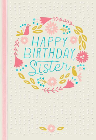 Wishing You Happiness Birthday Card For Sister
