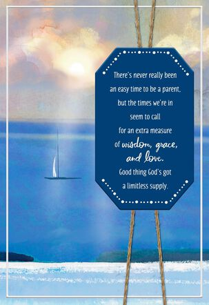 Tranquil Sea Father's Day Card for Son