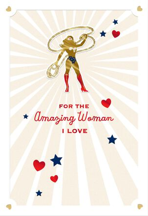 Wonder Woman™ Amazing Valentine's Day Card for Her