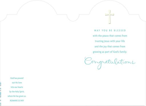 Dove and Sun Confirmation Card for Godson,