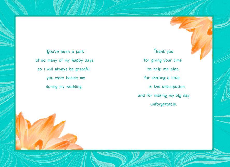 Orange Dahlia Maid Of Honor Thank You Card Greeting Cards Hallmark
