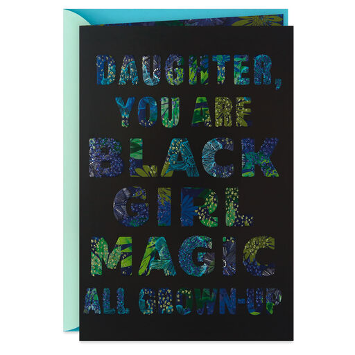 Black Girl Magic Mothers Day Card For Daughter