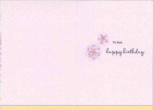 Purple Flowers in Vase Granddaughter Birthday Card,