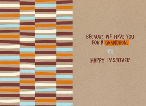 Blessed By You, Grandson Passover Card,