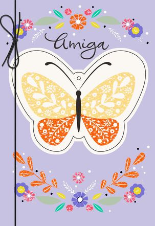 Beautiful Butterfly Spanish-Language Mother's Day Card for Friend