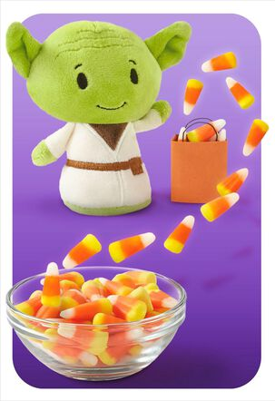 itty bittys® Yoda™ Only Treats Halloween Card