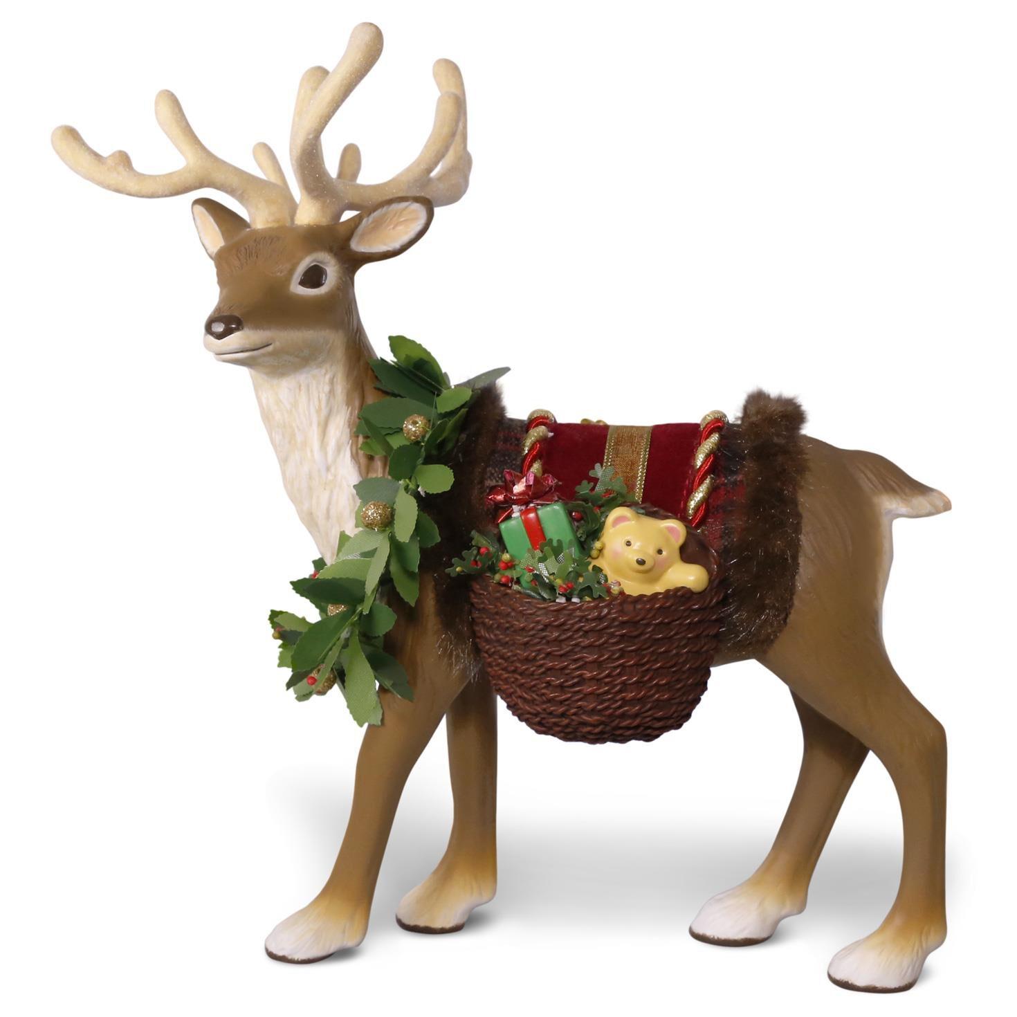 Father Christmas's Reindeer Tabletop Decoration - Keepsake ...
