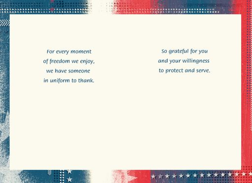 Red, White and Blue Veterans Day Card,