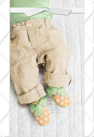 Little Legs and Feet Blank New Baby Card
