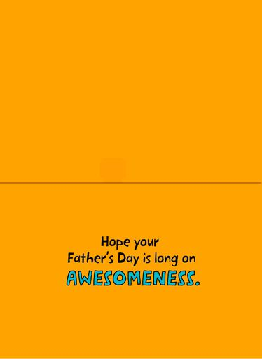 Weiner Dog Musical Father's Day Card,