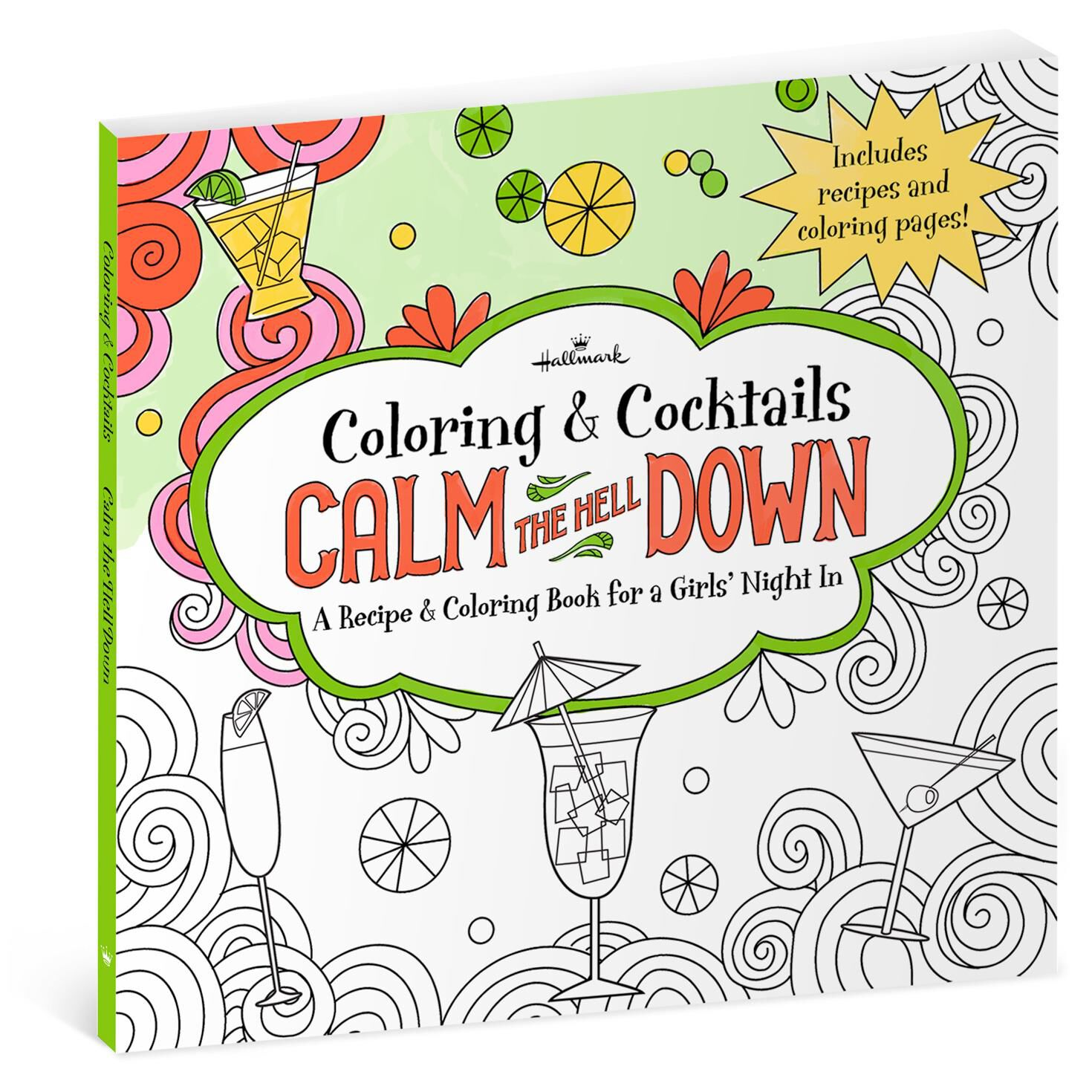 Calm the Hell Down: Recipe & Coloring Book for Girls\' Night ...