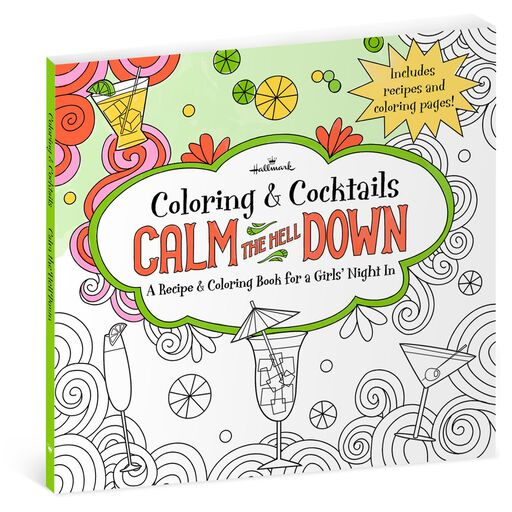 Calm The Hell Down Recipe Coloring Book For Girls