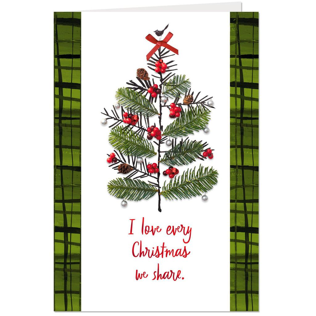 Christmas Tree Collage Christmas Card - Greeting Cards - Hallmark
