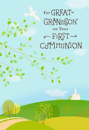 Great-Grandson First Communion Card
