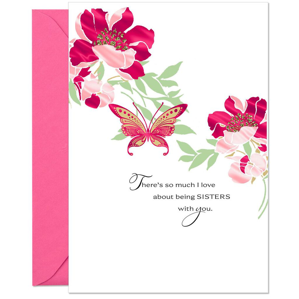 Love And Blessings Birthday Card For Sister