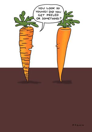 Carrot Peel Funny Birthday Card