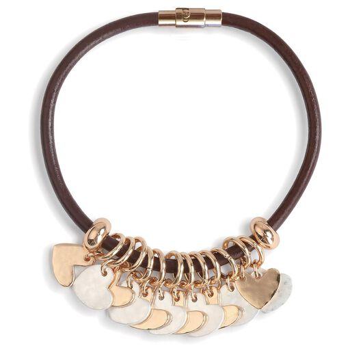 4739b4c1e9 Heart Charms Giving Bracelet