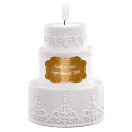 Wedding Cake Personalized Ornament, , large