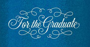 Fancy Blue Graduation Money Holder Card
