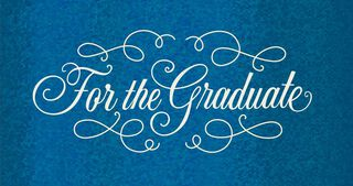 Fancy Blue Graduation Money Holder Card,