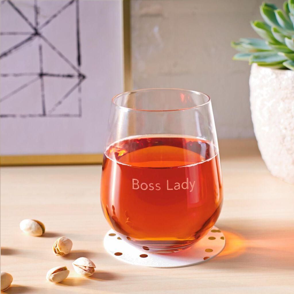 fda88933c22 Boss Lady Stemless Wine Glass