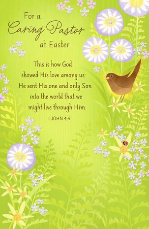For a Caring Pastor Religious Easter Card