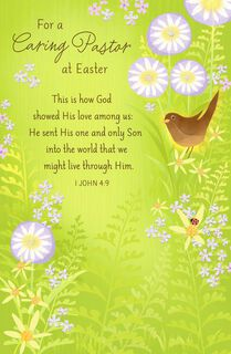 For a Caring Pastor Religious Easter Card,