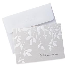 Cream Leaves Sympathy Thank You Notes, Pack of 10, , large