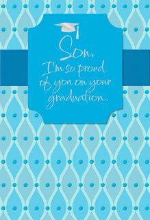Proud of You Graduation Card for Son,