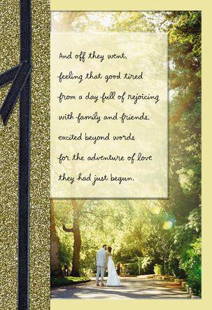 Faith, Hope and Love Religious Wedding Card