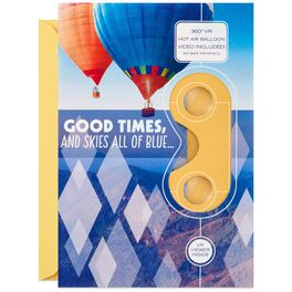 Good Times and Blue Skies Hot Air Balloon VR Birthday Card, , large