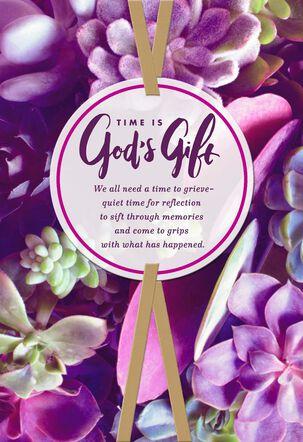 Praying God's Peace Religious Sympathy Card