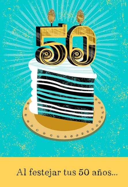 Celebrate Everything Spanish Language 50th Birthday Card Greeting