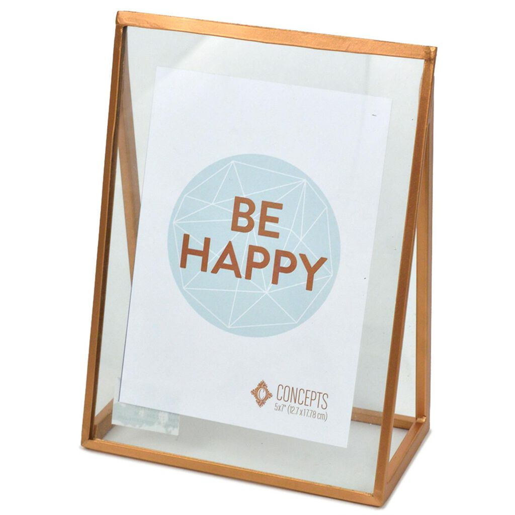 Copper Metal Pyramid Floating Picture Frame, 5x7 - Picture Frames ...