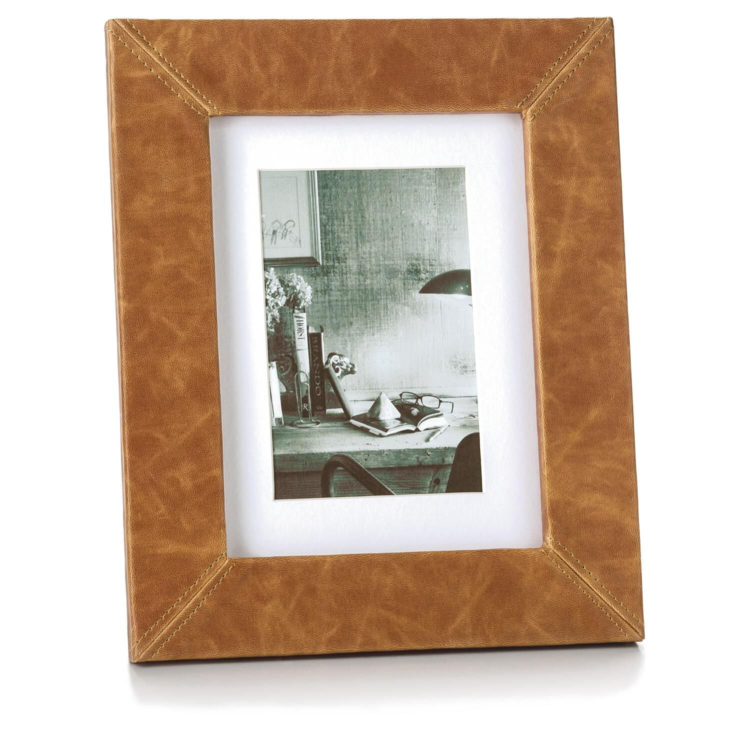 faux leather wood picture frame with stitched corners 4x6 picture frames hallmark