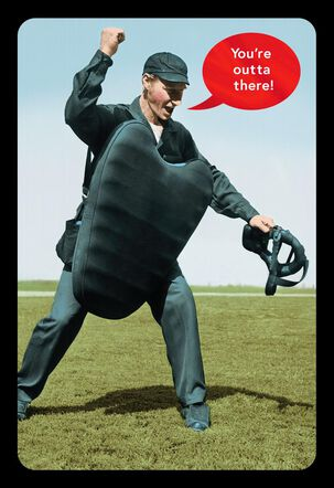 Baseball Umpire Funny Retirement Card