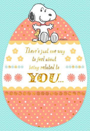 Peanuts® Snoopy and Woodstock Easter Card For Relative