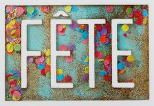 Confetti Fête French-Language Birthday Card
