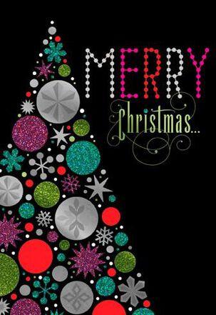 Glitzy Tree Christmas Card