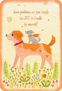 Two Dogs Friends Like You Friendship Card,