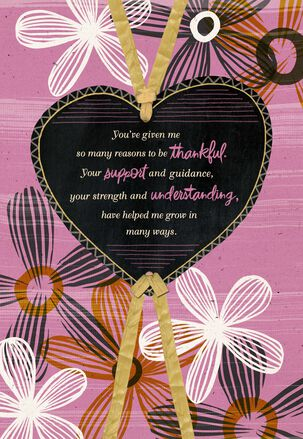 Heart and Flowers Mother's Day Card