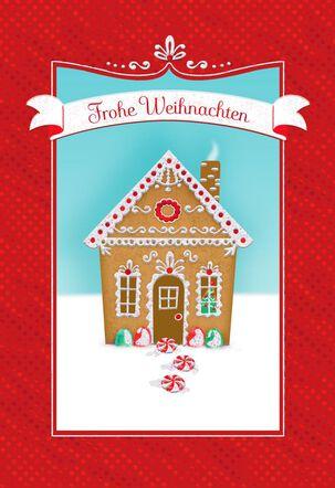 Gingerbread House German-Language Christmas Card