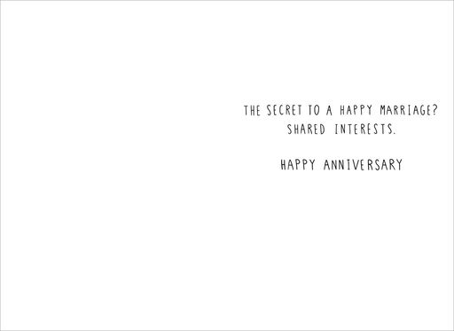 Secrets to a Happy Marriage Funny Anniversary Card,