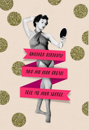 Diet and Exercise Funny Birthday Card