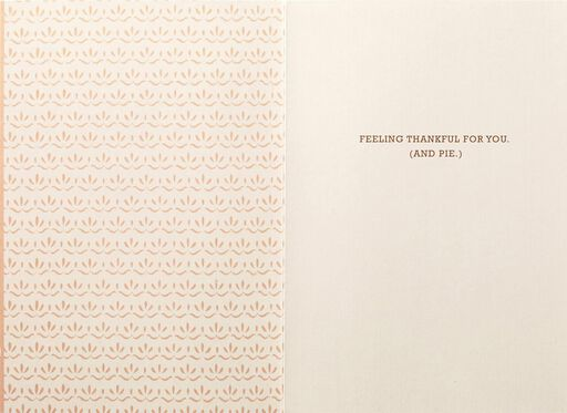 Pie Equals Thankfulness Thanksgiving Card,
