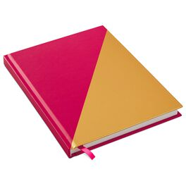 Pink and Yellow Diagonal Foil Journal, , large