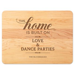We Built Our Home Personalized Wood Cutting Board,